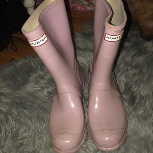 light purple short hunter boots